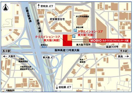 MOBIO(ものづくりビジネスセンター大阪)周辺地図